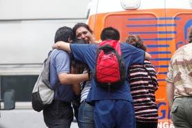 Familiares de las víctimas de la tragedia de Barracas