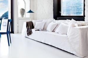 Ocho estilos para un sofá blanco