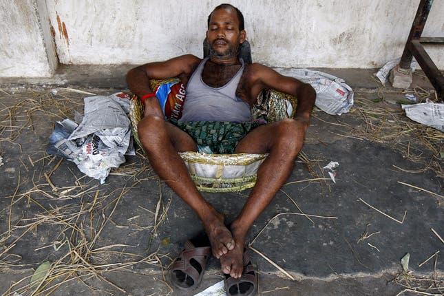 La ola de calor no le da tregua en la India, las temperaturas llegaron a los 48 grados. Foto: Reuters