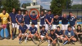 Emiliano, con sus compañeros de equipo
