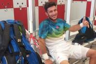 Juan Mónaco no se presentó a jugar los cuartos de final del Masters 1000 de Roma por una lesión en la cadera