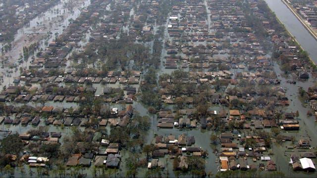 Nueva Orleans quedó devastada tras el paso de Katrina en 2005