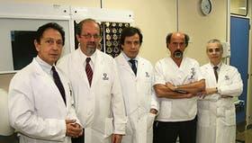De izquierda a derecha, Rodríguez Loffredo, Dubrovsky, Manes, Raimondi y Klein