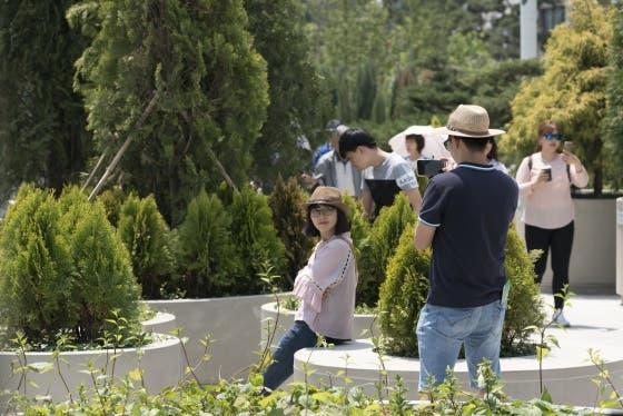 Este jardín urbano se abrió al público a mediados de mayo de 2017