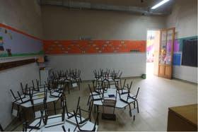Aulas vacías. Una imagen del paro docente de la semana pasada, que podría repetirse mañana y pasado en la provincia de Buenos Aires.