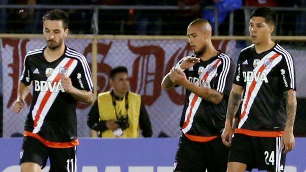 Scocco, Maidana y Enzo Pérez, la frustración de River que fue goleado en Bolivia