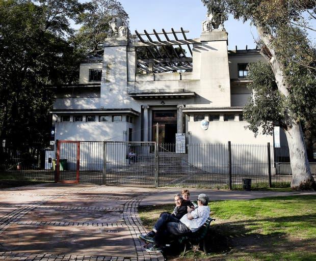 El edificio art noveau que la escuela ocupa en el Parque Avellaneda