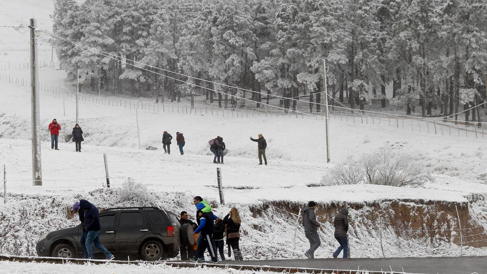 Tafí Del Valle, nevado. Foto: LA NACION / Fernando Font