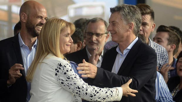 El presidente Mauricio Macri y la intendenta de La Matanza Verónica Magario