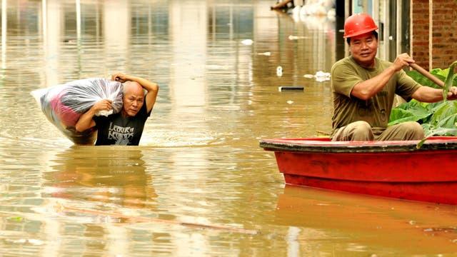 El agua ha superado todos los límites en Guangxi