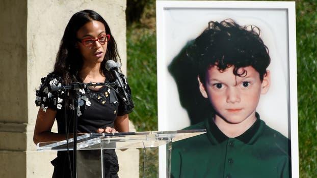 Zoe Saldana recordó a su compañero de Star Trek con un sentido discurso. Foto: AP
