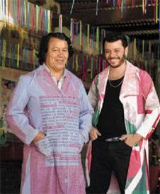 Churba con Héctor Flores, que junto con él coordina el proyecto