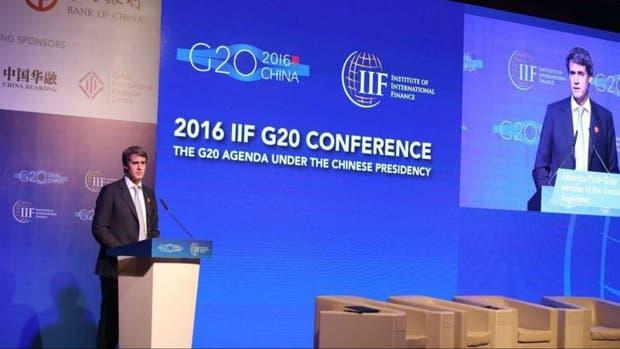 El ministro Prat-Gay, hoy en el G-20 en China