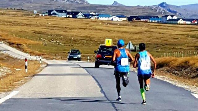 Pedro Luis Gómez en el Maratón de Malvinas