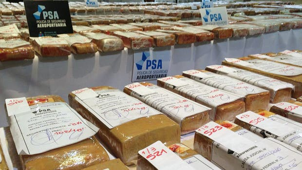 Cientos de panes de marihuana secuestrados a lo largo de un mes por la Policía de Seguridad Aeroportuaria