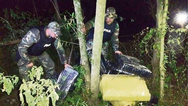 Parte de la droga incautada en Corrientes