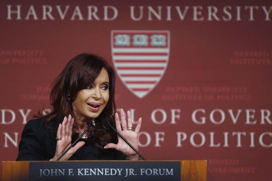 Cristina negó tajantemente que en nuestro país haya un cepo cambiario. Foto: Reuters