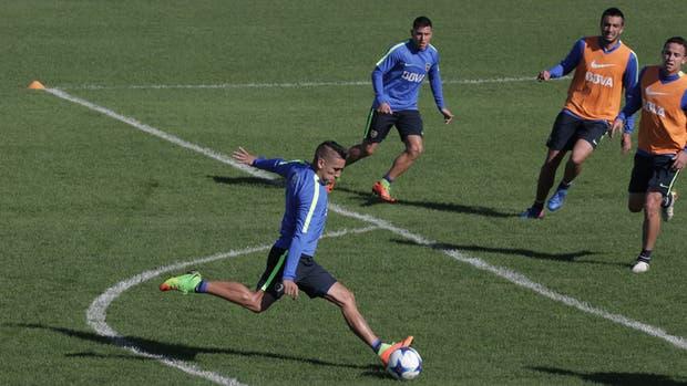 Ricardo Centurión, en la práctica de Boca
