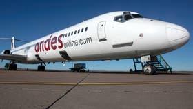 Andes, la empresa privada de capitales nacionales, se suma a la guerra aerocomercial