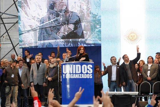 Masivo acto de Cristina Kirchner en homenaje al triunfo de Néstor Kirchner en 2003. Foto: LA NACION / Rodrigo Nespolo