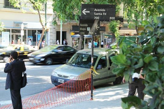 Funcionará como una prolongación de Maipú y permitirá a los automovilistas retomar Santa Fe sin tener que seguir dos cuadras hasta Suipacha. Foto: LA NACION / Sebastián Rodeiro