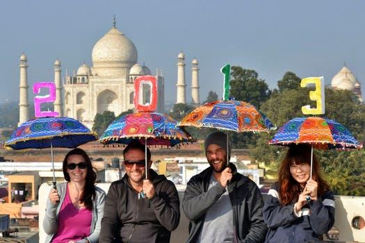 La llegada del año nuevo en India. Foto: AP