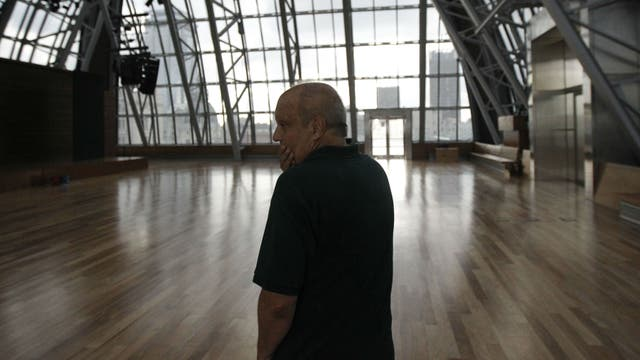 Lombardi en la cúpula del CCK, ahora vacía. Foto: LA NACION / Santiago Filipuzzi