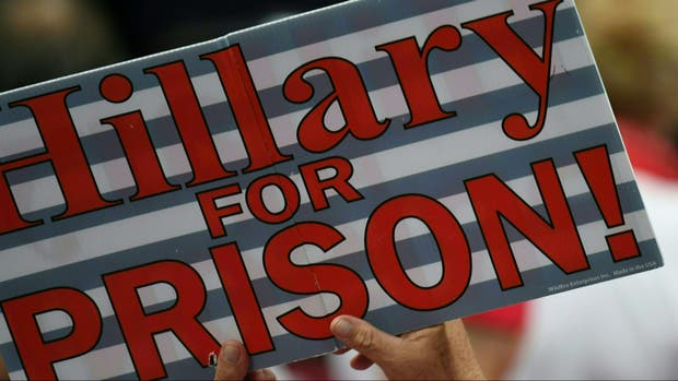 Resultado de imagen de Hillary Clinton a la carcel