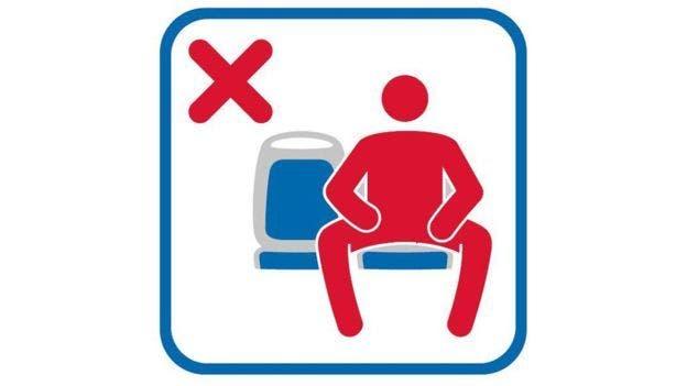 """Esta es la iconografía que usarán en los autobuses de Madrid para evitar el """"manspreading"""""""