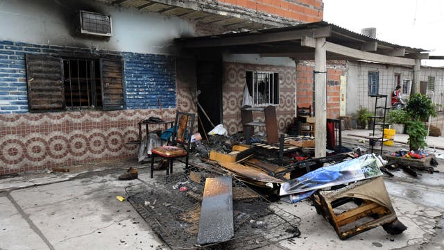Luego del hecho prendieron fuego la casa de los supuesto asesinos
