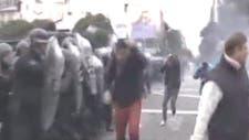 Gases lacrimógenos y camiones hidrantes: así fue el desalojo