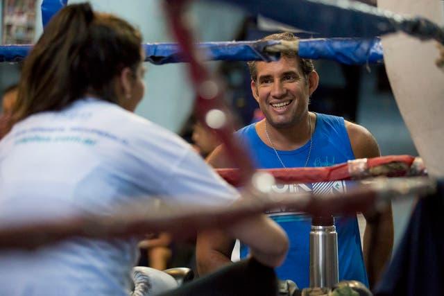 Fernando Albelo, su entrenador, fue quien le otorgó el apodo a la Karen