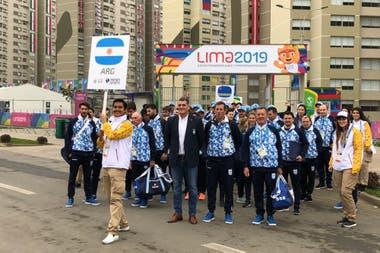 Delegacion Argentina en la villa olimpica.