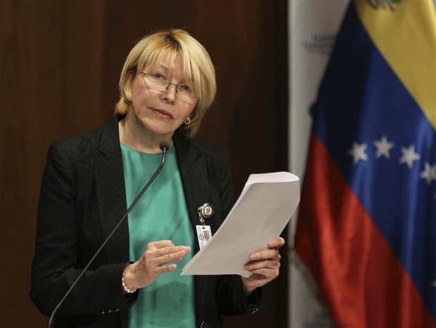 Luisa Ortega, en una de sus últimas apariciones públicas en Venezuela