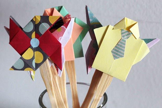 Decoración en palitos, de Origamizate.