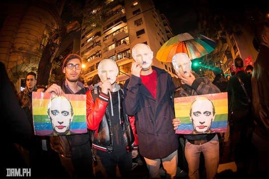 Los militantes en la Argentina piden solidaridad internacional para presionar a Rusia a que respete los derechos de todas las personas. Foto: Facebook/damhidalgo