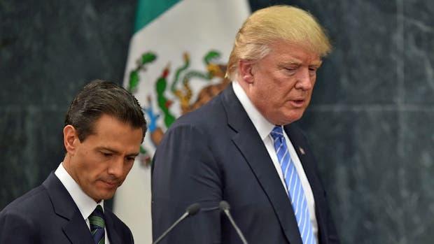 El presidente de México Enrique Peña Nieto y su par estadounidense, Donald Trump