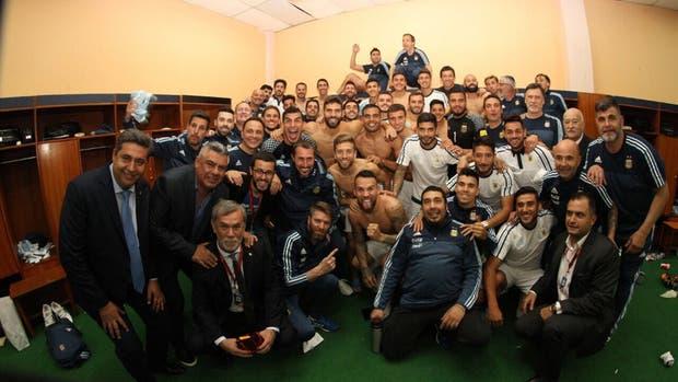 El festejo argentino tras la clasificación