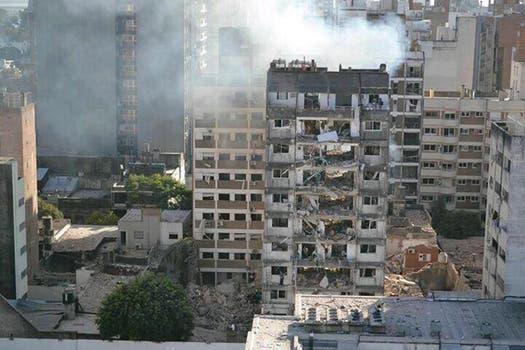 Fuerte explosión en un edificio de Rosario. Foto: Archivo