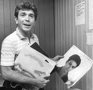 Siempre expresó su fanatismo por Los Beatles (foto de 1985). Foto: Archivo