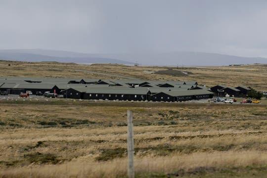 Base militar Mount Pleasant. Foto: LA NACION / Mauro V. Rizzi / Enviado especial