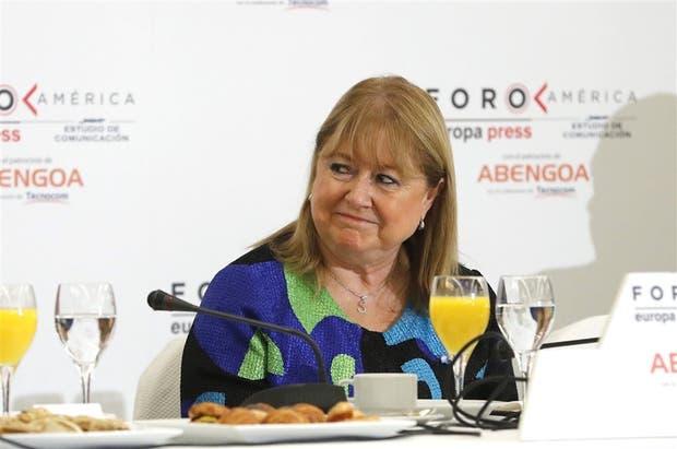 La canciller participó de un foro en España