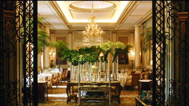 Le Cinq, otro restaurante del hotel George V. Foto: Four Seasons