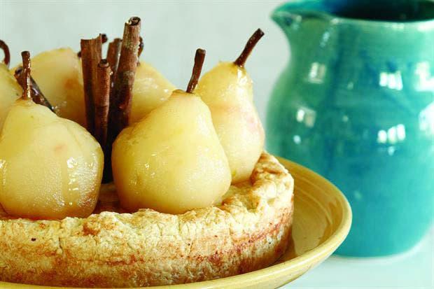 Torta de peras y hojaldre