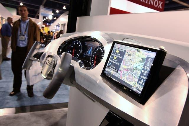 Un sistema de navegación de Audi en una de las ediciones de la Consumer Electronic Show de Las Vegas