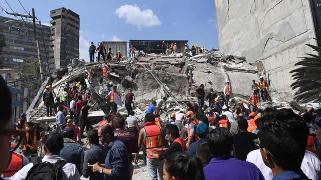 Tareas de rescate en Ciudad de México