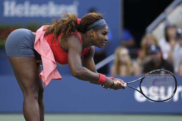 La campeona del US Open y una posa que no la favorece.  Foto:AP