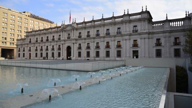En el centro de la ciudad, el Palacio de La Moneda