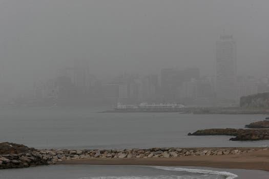 Mar del Plata, otra de las ciudades que se vió afectada por el fenómeno. Foto: LA NACION / Mauro Rizzi
