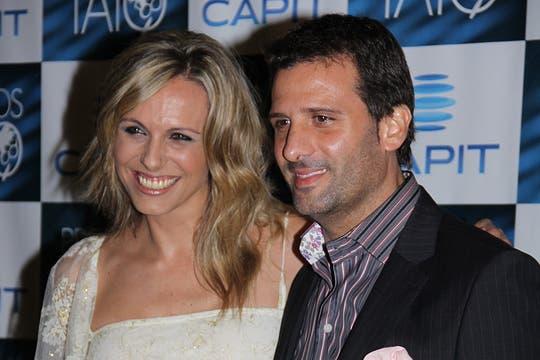 Un dúo a pura sonrisa: Denise Dumas y José María Listorti.. Foto: LA NACION / Matías Aimar